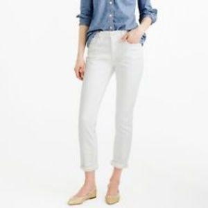 J Crew Point Sur Denim White Jeans